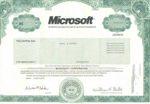 Акции Microsoft в бинарных опционах